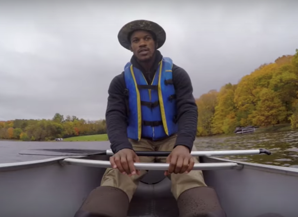 NBA player Jimmy Butler faces his fear of boats
