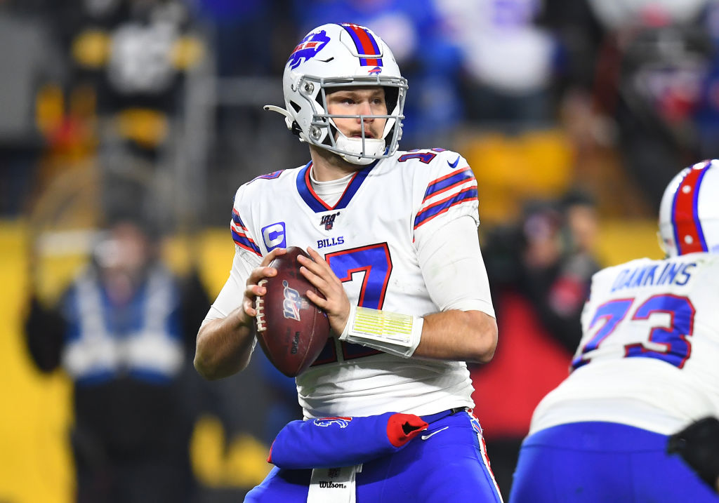 Bills quarterback Josh Allen is officially a work of art after a Buffalo gallery hung up a photo of him and some fans.