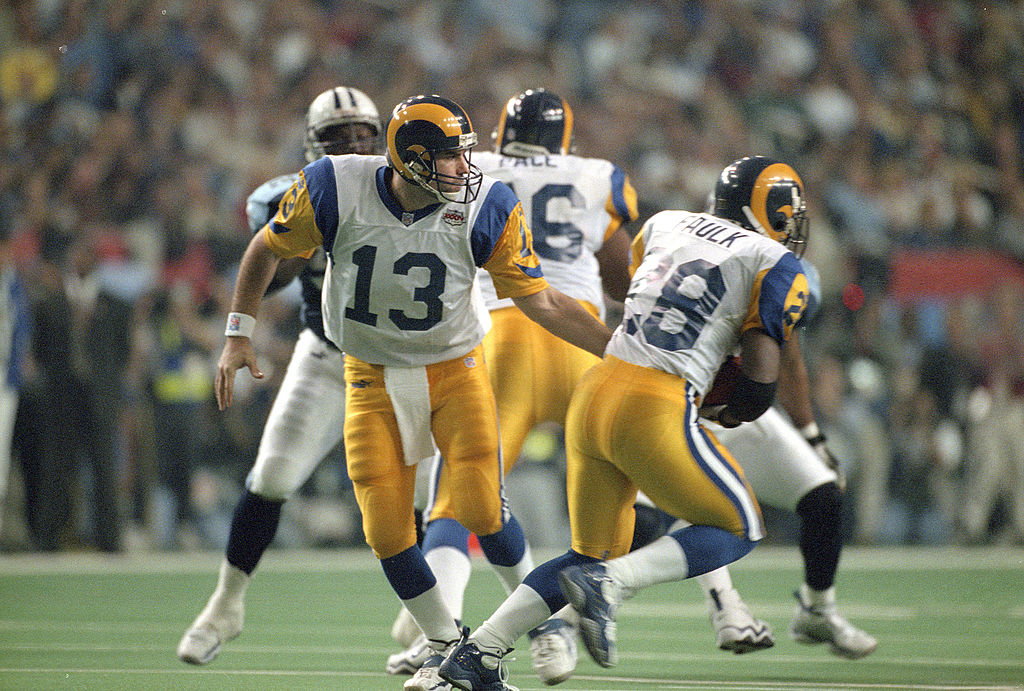Kurt Warner andMarshall Faulk led the Rams to a victory in Super Bowl XXXIV