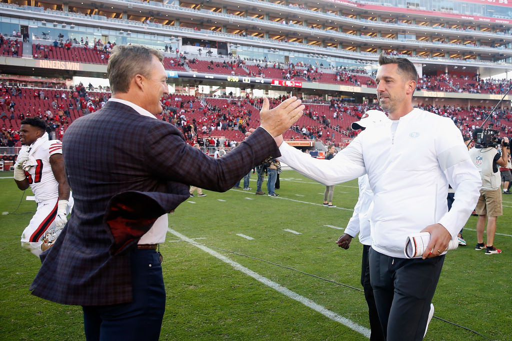 Kyle Shanhan loves coaching the 49ers, especially after his stint as an assistant in Washington.