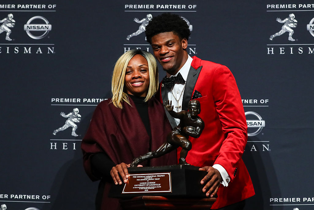 Lamar Jackson's family, especially his mother, has shaped the Ravens' quarterback's career.
