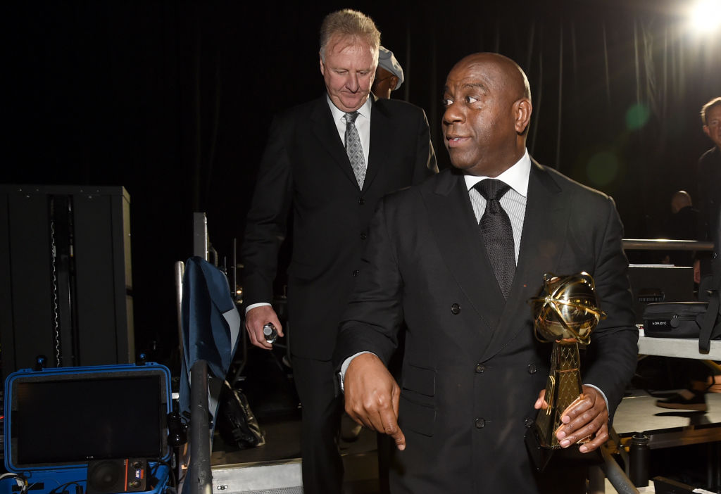 Larry Bird and Magic Johnson, winners of the Lifetime Achievement Award