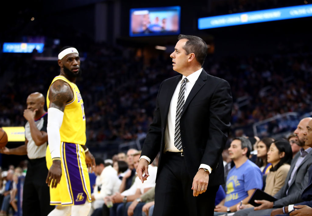Lakers head coach Frank Vogel and forward LeBron James