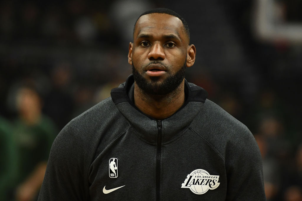 Lakers forward LeBron James.