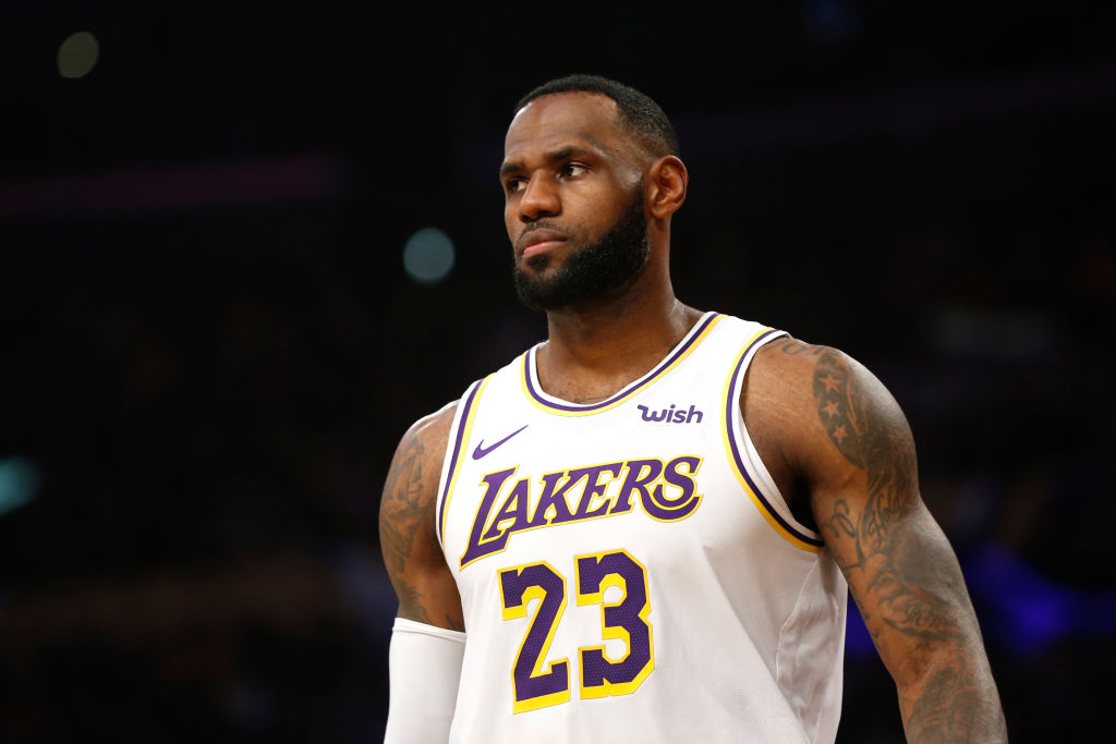 Lakers forward LeBron James.