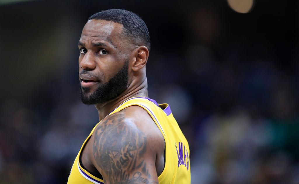 Lakers forward LeBron James