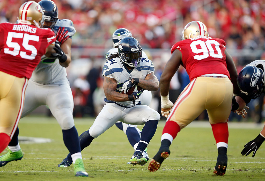 Marshawn Lynch has been preparing for his return to action with the Seattle Seahawks.