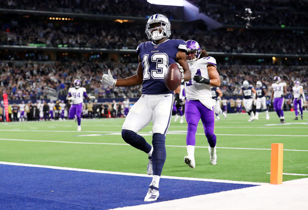 Michael Gallup finding the endzone against the Minnesota Vikings