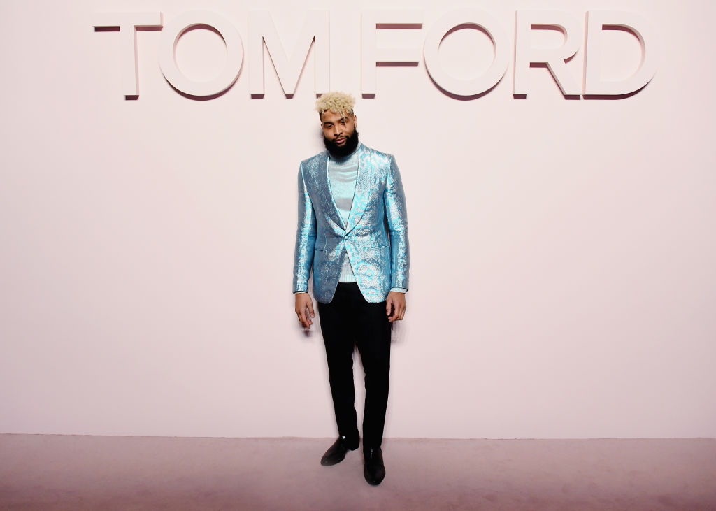 Odell Beckham Jr. attends the Tom Ford Fashion Show 2019