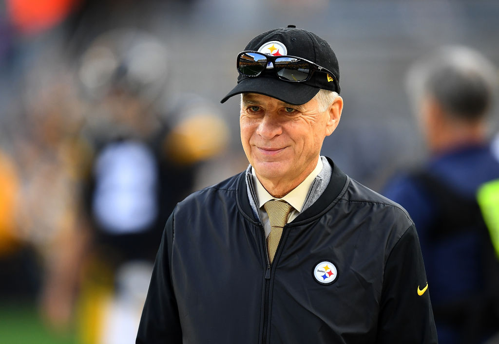 Owner Art Rooney ll of the Pittsburgh Steelers looks on during a game