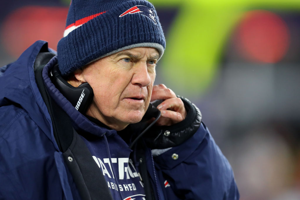 Patriots head coach Bill Belichick