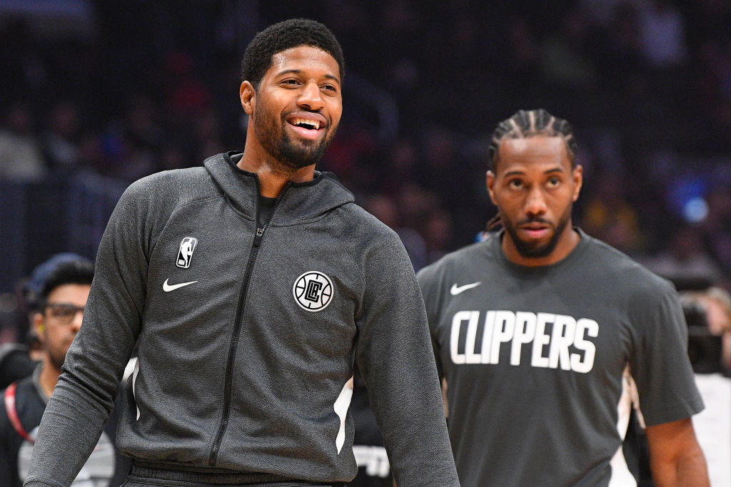 Clippers forwards Paul George and Kawhi Leonard
