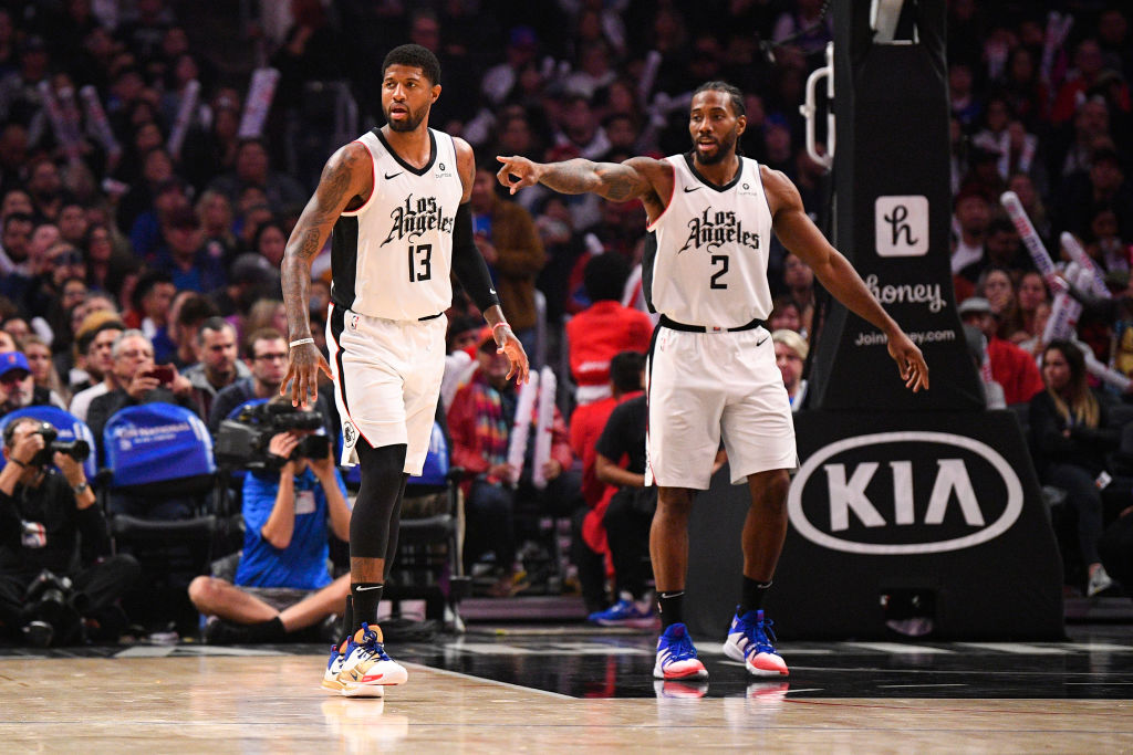Clippers forwards Paul George Kawhi Leonard