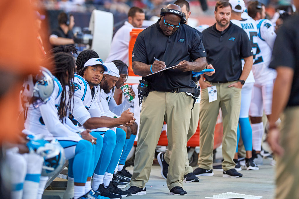 Perry Fewell has taken over the Carolina Panthers coaching job for the rest of the season, replacing Ron Rivera.
