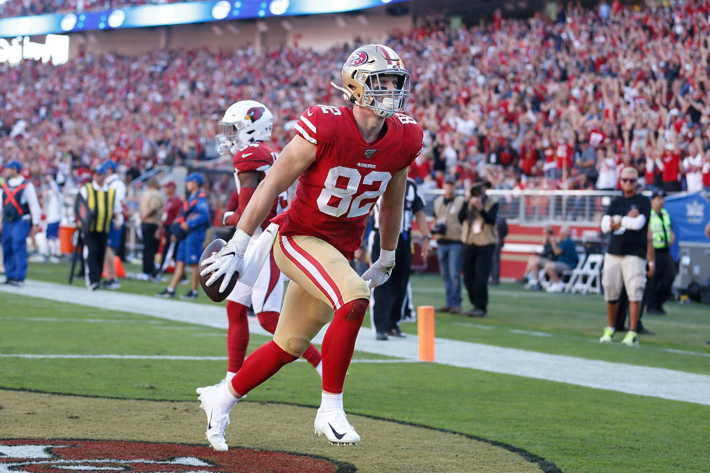 Ross Dwelley is one of the 49ers best players, according to head coach Kyle Shanahan.