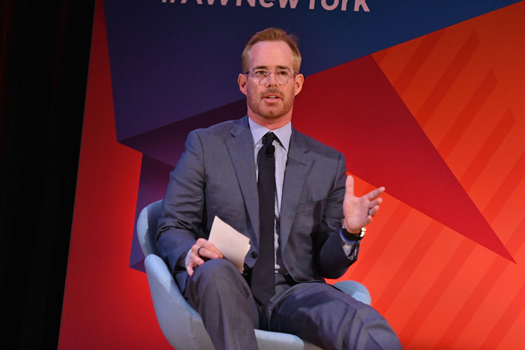 Sportscaster Joe Buck speaks onstage at the Fox NFL Town Hall panel in 2016