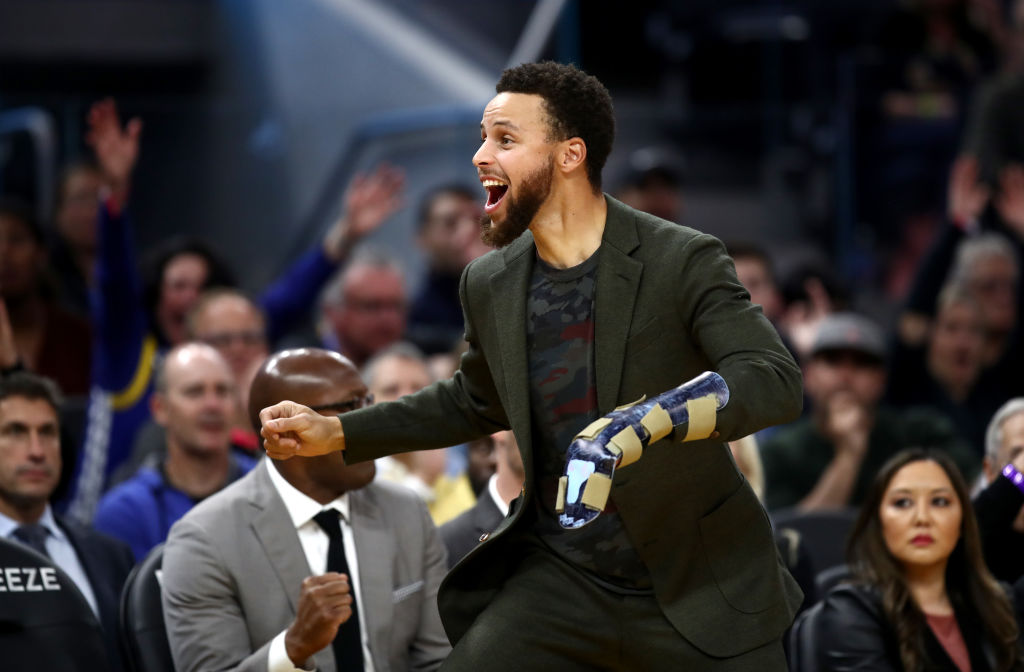 Golden State Warriors guard Stephen Curry is out with a broken hand.