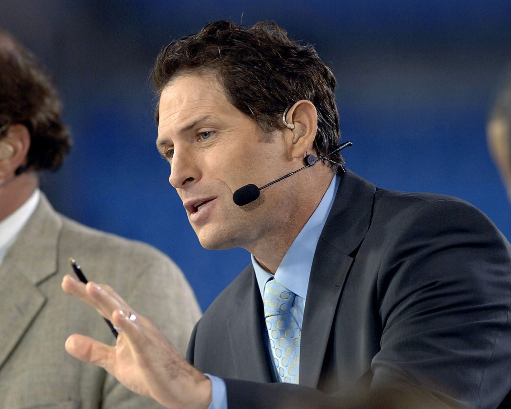 ESPN commentator Steve Young on Monday Night Football in 2006