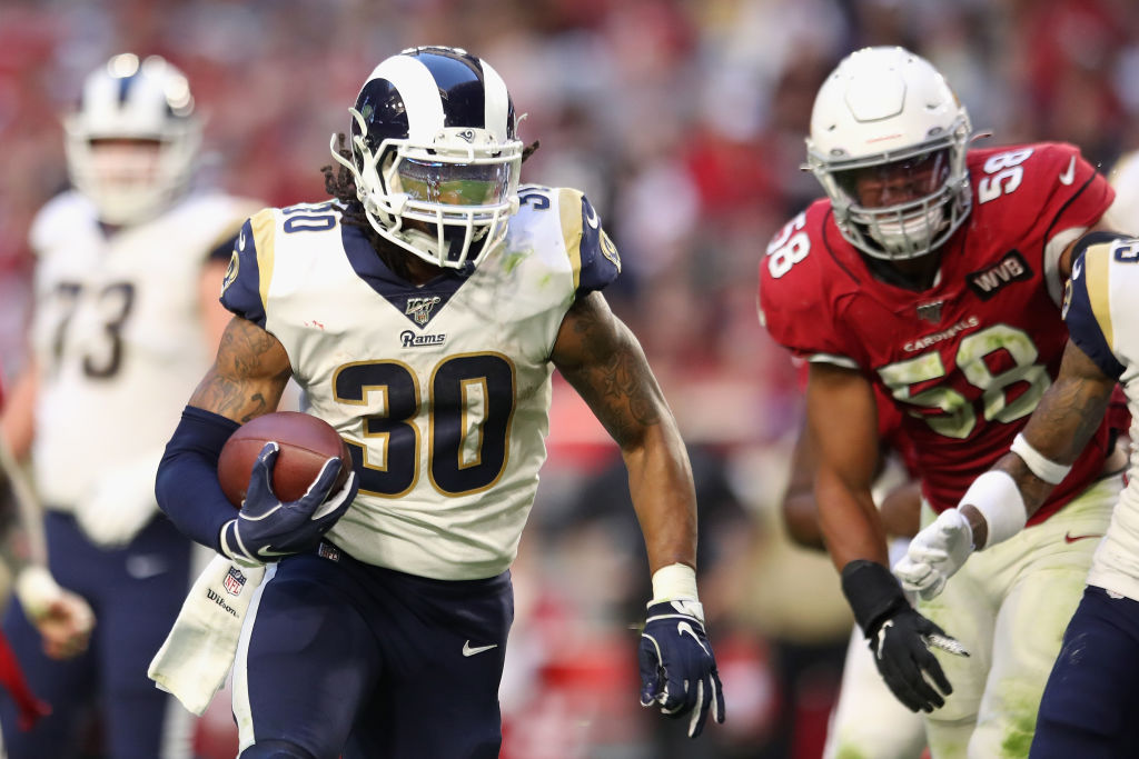 Todd Gurley rushed for 95 yards and a touchdown last Sunday against the Arizona Cardinals