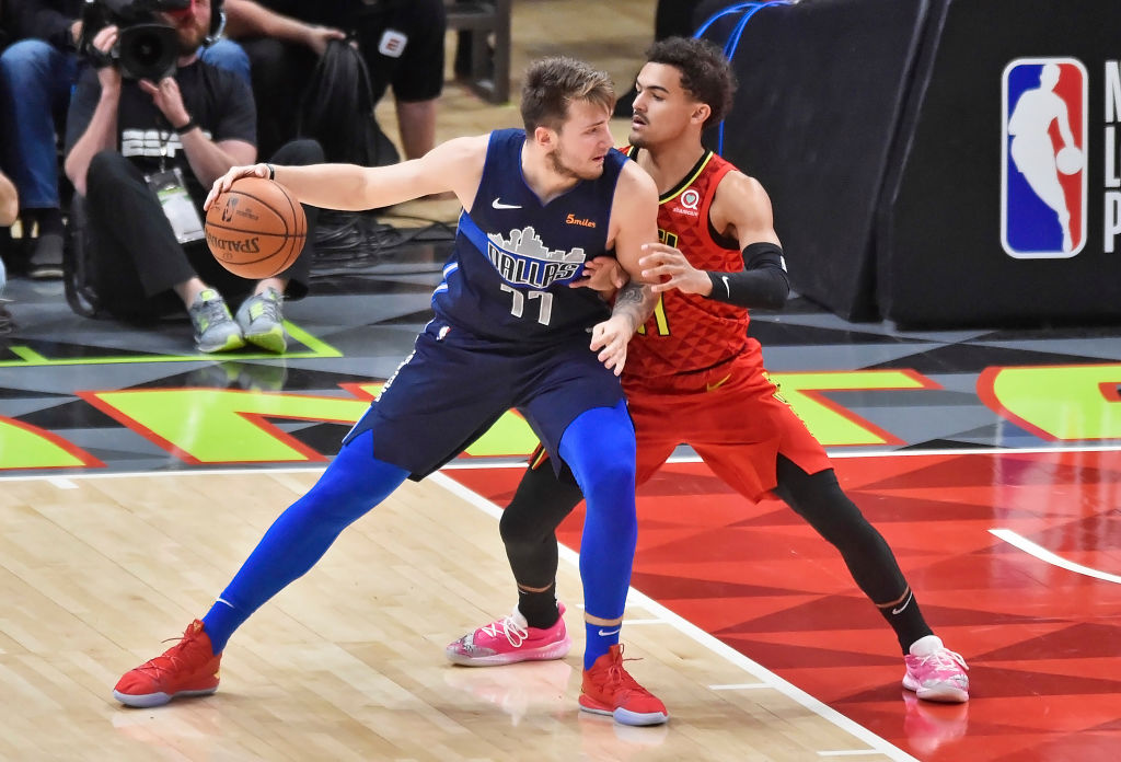 Trae Young wants everyone to stop mentioning him and Luka Doncic in the same sentence all the time.