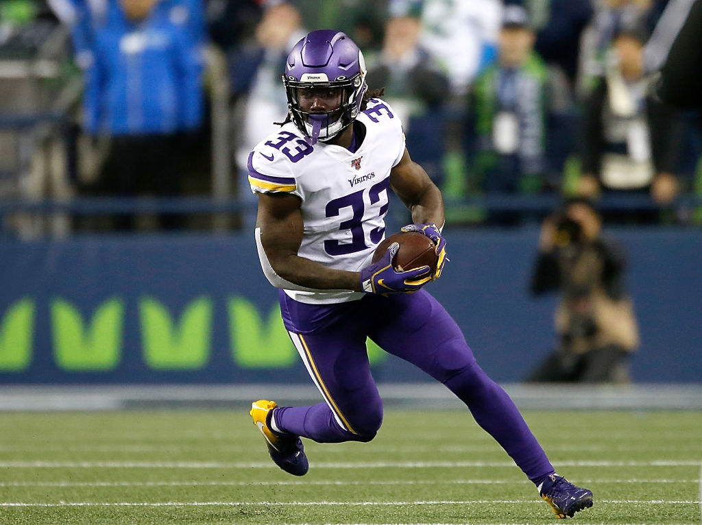 Minnesota Vikings running back Dalvin Cook is battling through a shoulder injury.