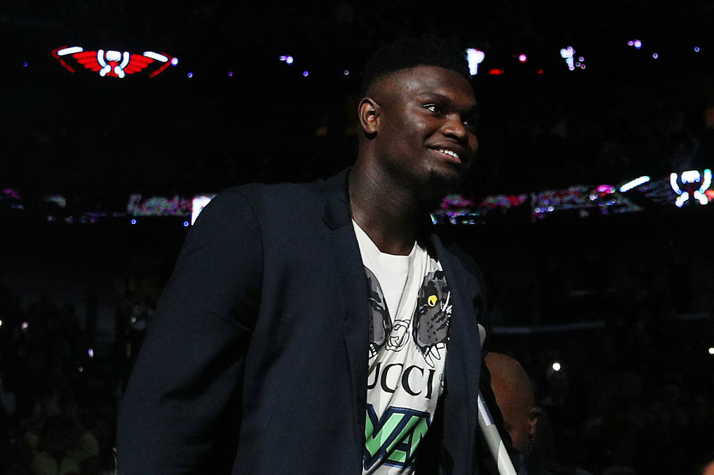 Zion Williamson hasn't played for the Pelicans, but the forward is still being honored as an elite player.