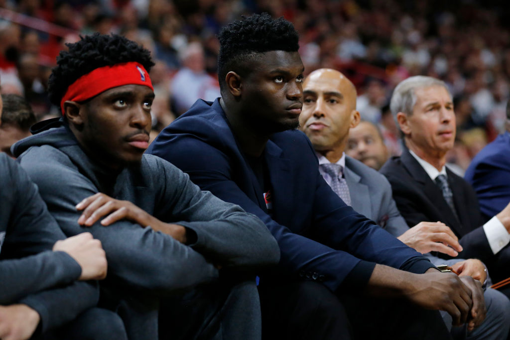 Due to a knee injury, Zion Williamson is yet to play for the New Orleans Pelicans.