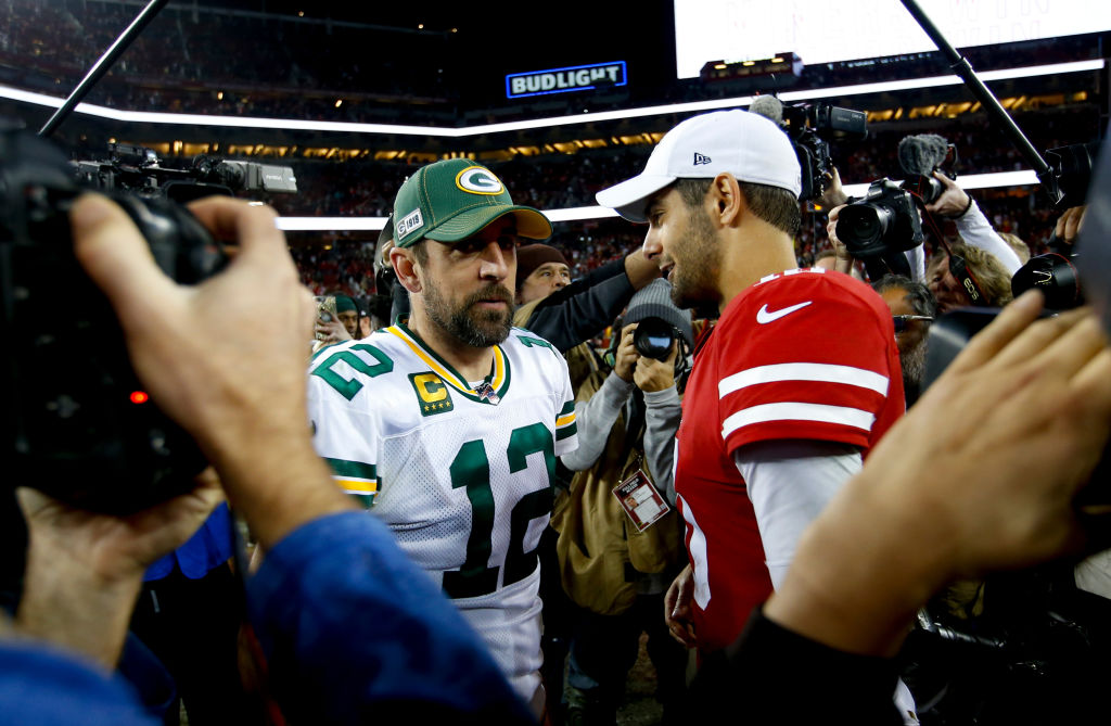 Aaron Rodgers of the Green Bay Packers and Jimmy Garoppolo of the San Francisco 49ers meet in 2019