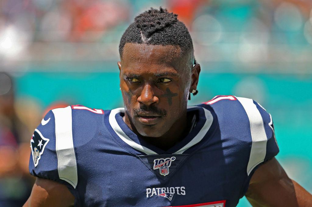 Antonio Brown in a New England Patriots uniform