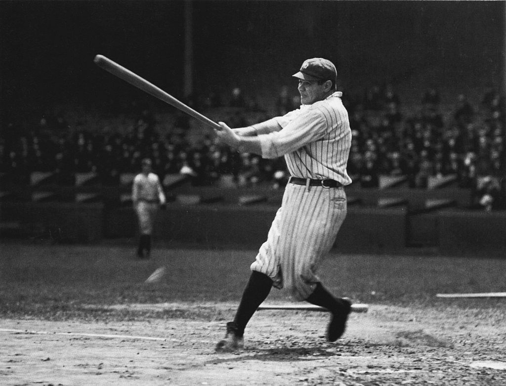 New York Yankees outfielder Babe Ruth unsurprisingly had a Hall of Fame career.