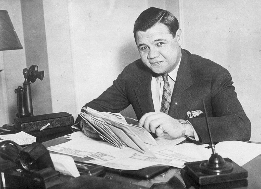 Babe Ruth signed quite a few hefty contracts during his time with the New York Yankees.