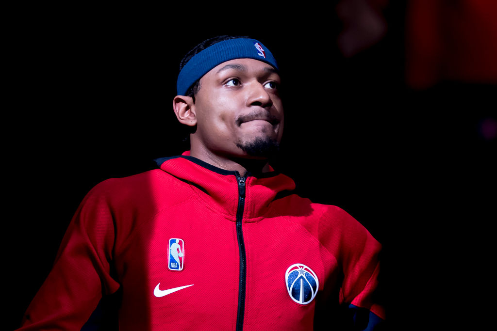 Bradley Beal of the Washington Wizards before a game