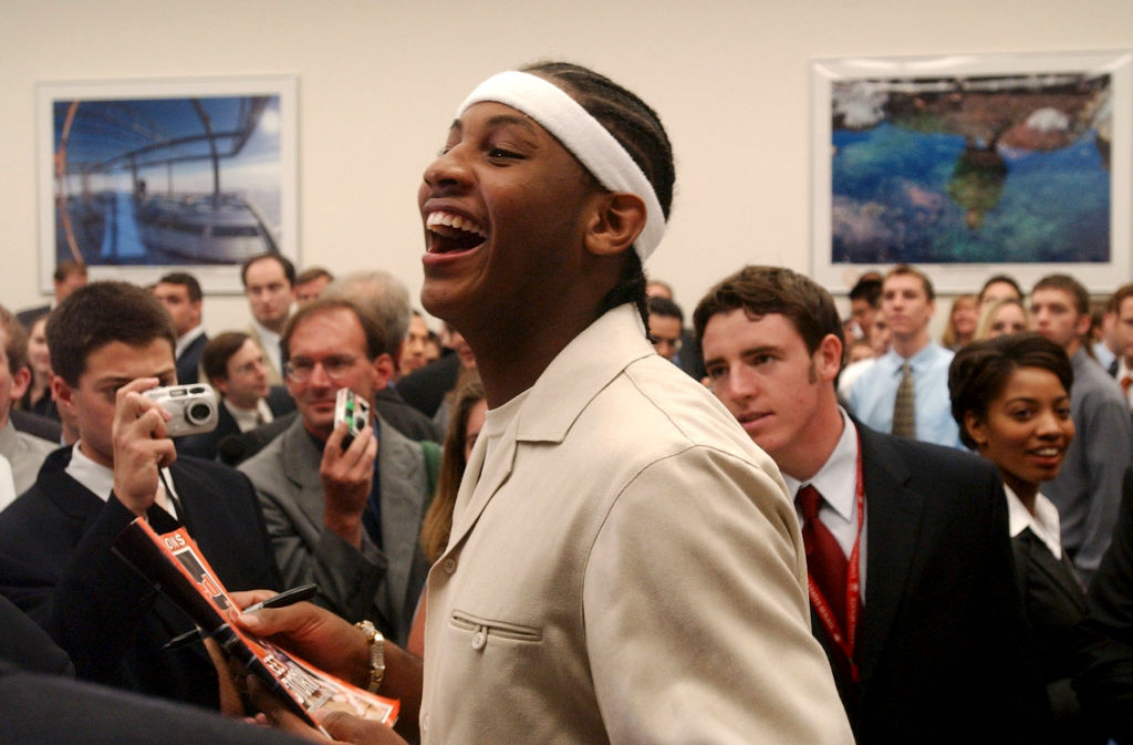 Carmelo Anthony of the 2003 National Champion Syracuse Orangemen, right before he entered the 2003 NBA draft