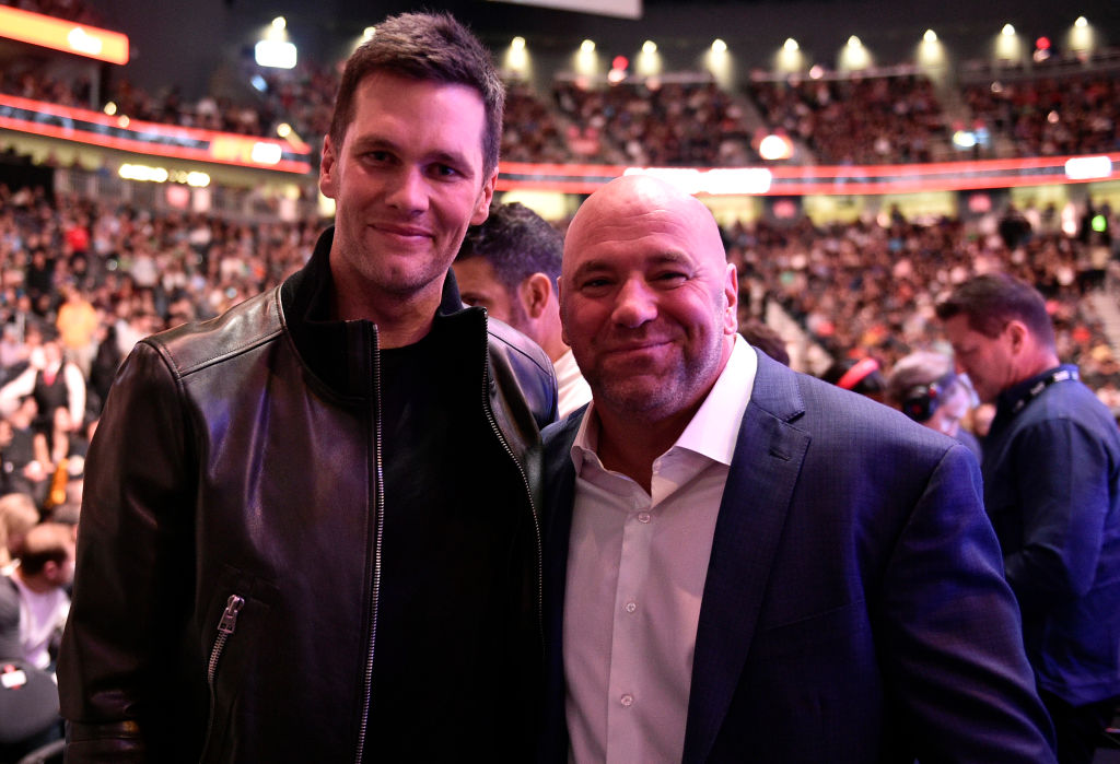 Dana White and Patriots quarterback Tom Brady