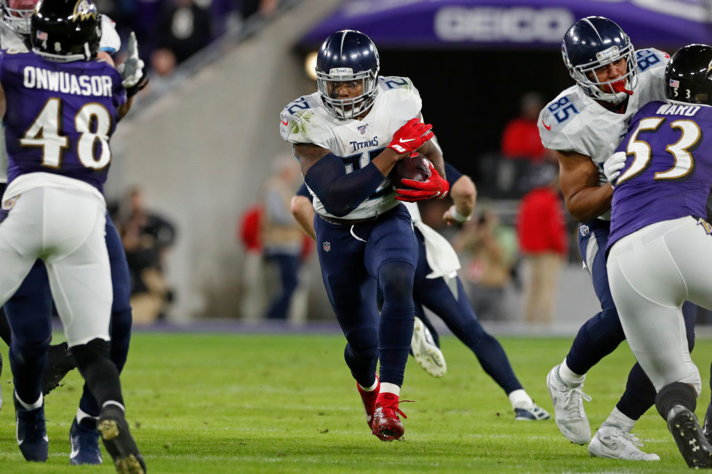Tennessee Titans running back Derrick Henry has been a new man ever since talking to Eddie George.