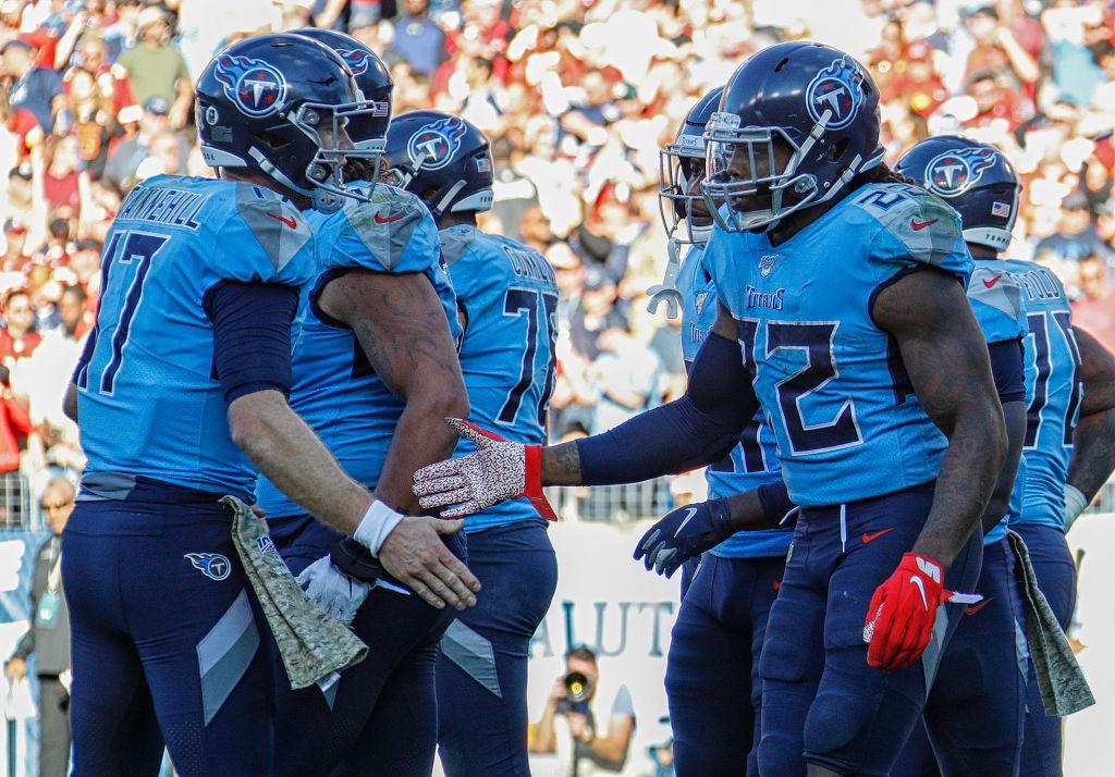 Titans quarterback Ryan Tannehill and running back Derrick Henry
