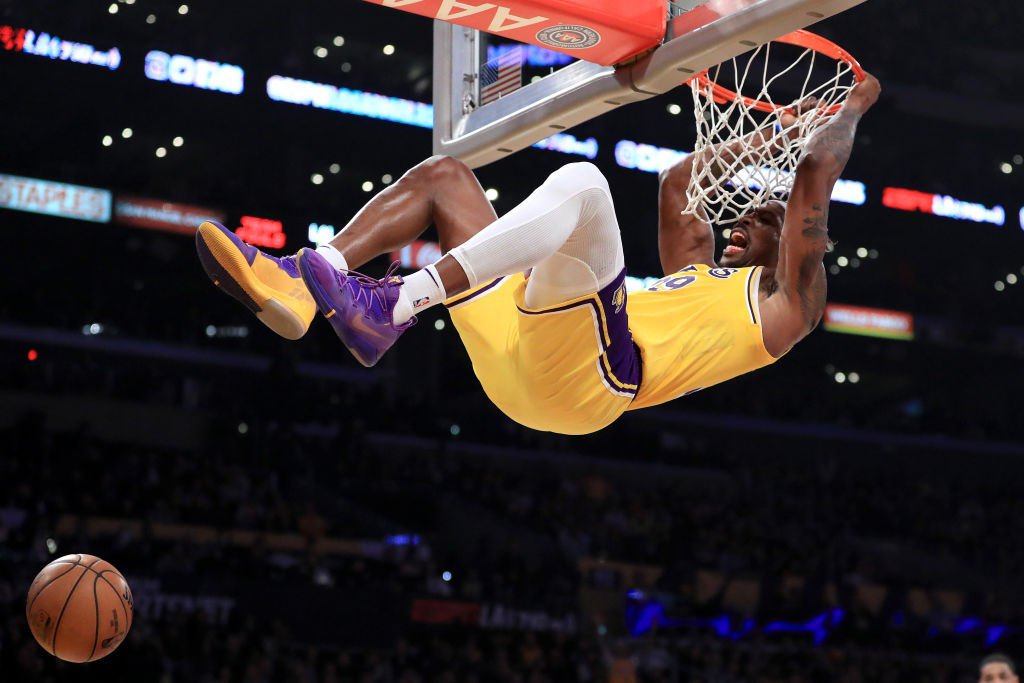 Dwight Howard wants help from a Los Angeles Lakers legend during the Slam Dunk Contest.