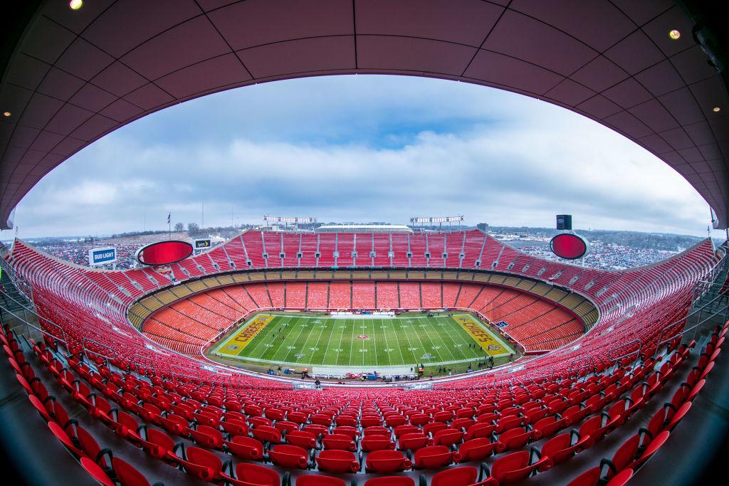 Empty Arrowhead stadium prior to a Kansas City Chiefs game