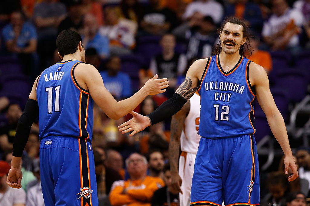 Enes Kanter is rebounding better than ever for the Celtics, and he might have Oklahoma City center Steven Adams to thank for it.