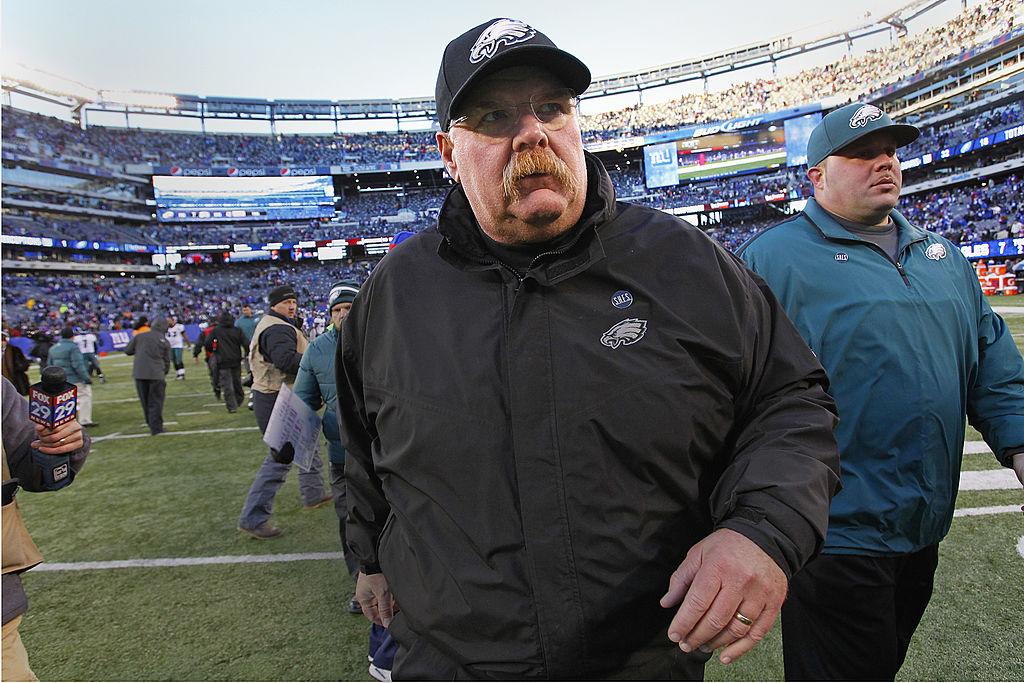 Head coach Andy Reid of the Philadelphia Eagles in 2012