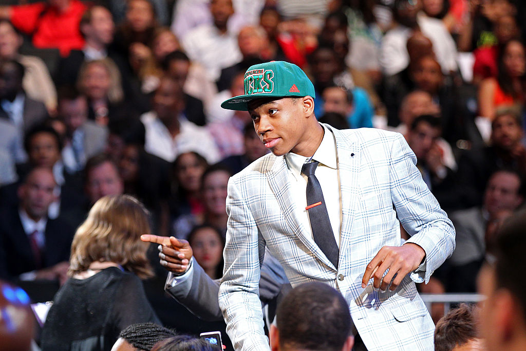 Giannis Antetokounmpo of Greece is drafted #15 overall in the first round by the Milwaukee Bucks