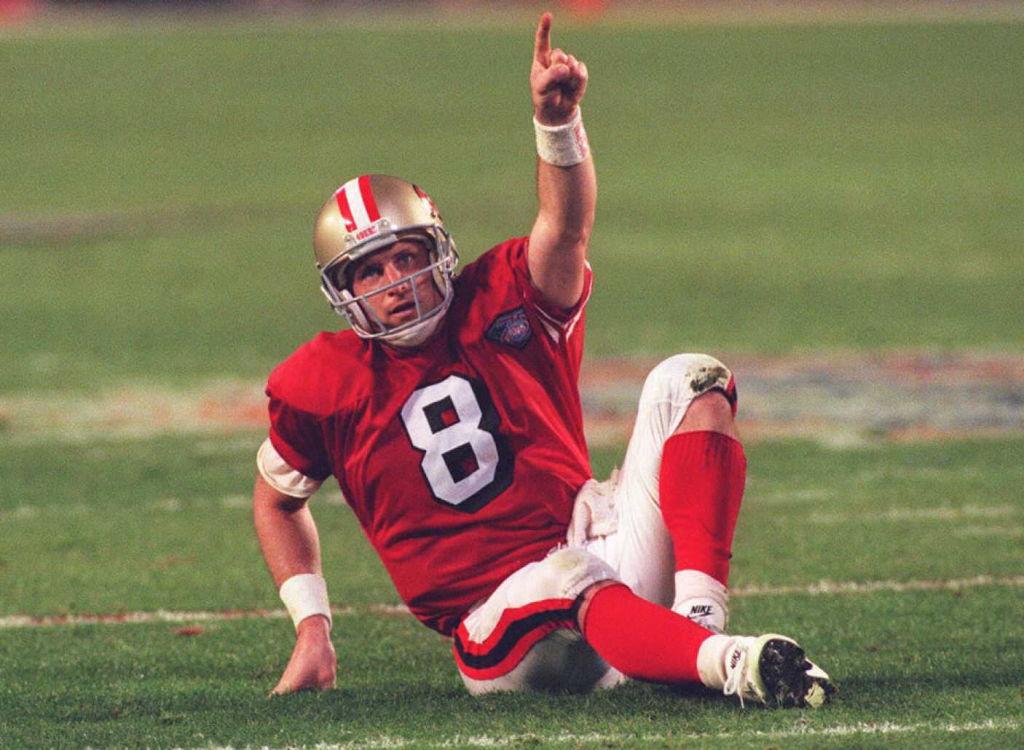 San Francisco 49ers quarterback threw six touchdowns in the highest scoring Super Bowl.