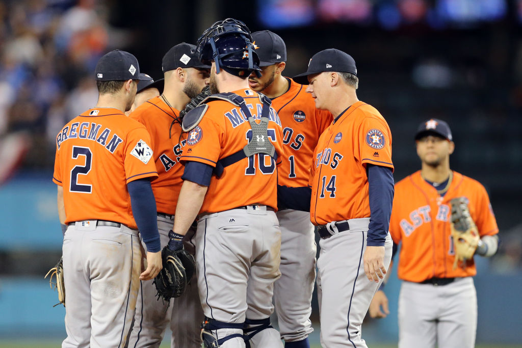 The Houston Astros stole signs en route to the 2017 World Series title.