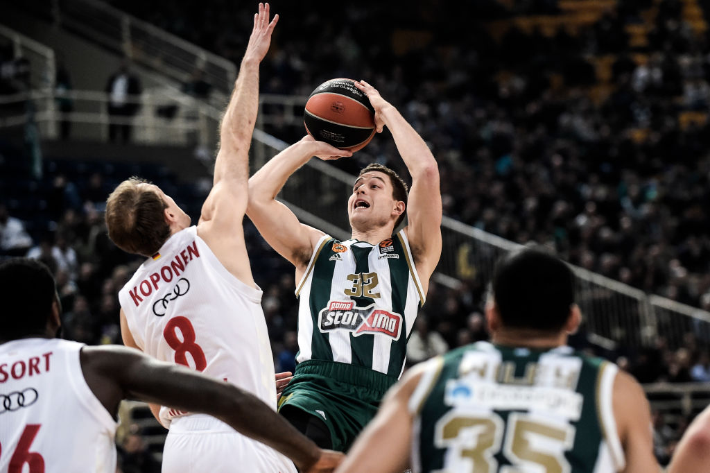 Jimmer Fredette from Panathinaikos Athens in action