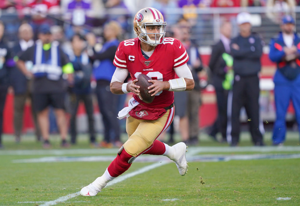 Jimmy Garoppolo earns a healthy paycheck, but the playoff bonus money he's earning with the 49ers will come in handy for one reason.