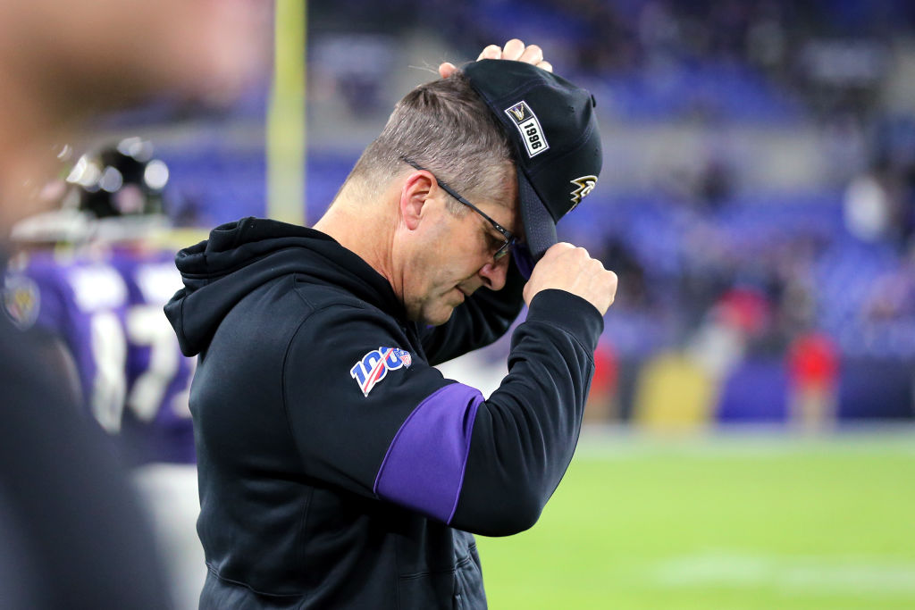 John Harbaugh couldn't lead his Baltimore Ravens to playoff victory over the Tennessee Titans.