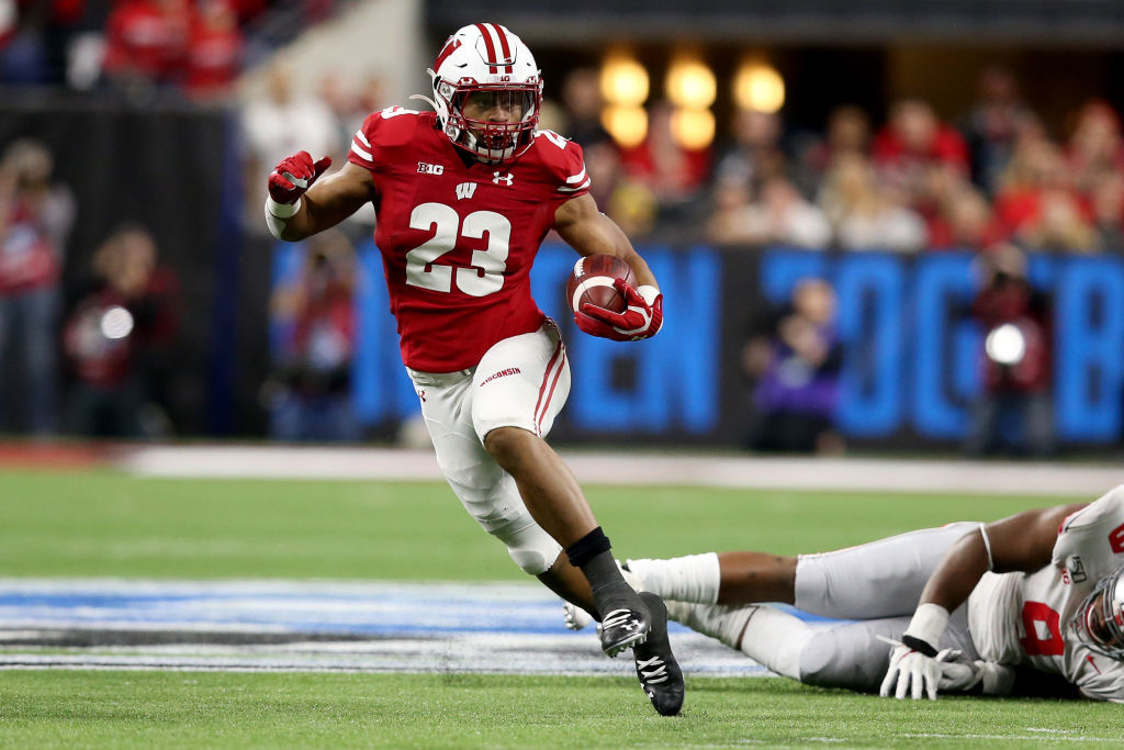 Former Wisconsin running back Jonathan Taylor is talented, but his status as a first-round pick in the 2020 NFL draft is up in the air.