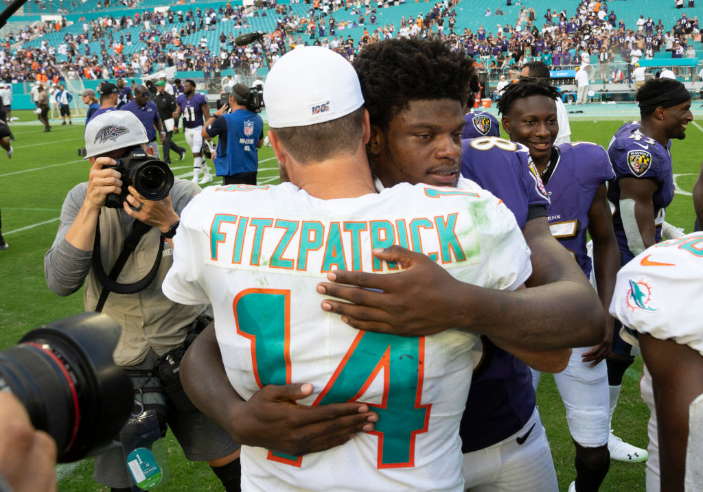 Lamar Jackson is a MVP-caliber quarterback and Ryan Fitzpatrick a journeyman QB, but they have at least one thing in common.
