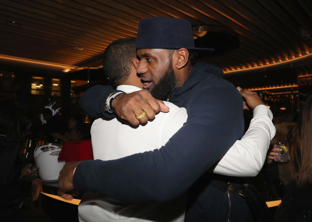 Chubbs (L) and Lebron James attend as Lebron James hosts Dwyane Wade's Birthday in 2018