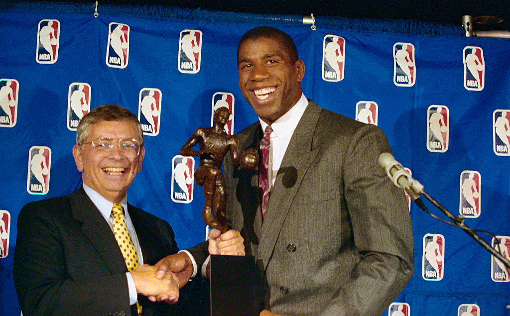 After David Stern's tragic death, Magic Johnson thanked the late NBA commissioner for his support.